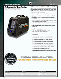 Cobramatic Pro Wire Feeder Literature/Catalog page