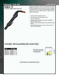 Cobra X Welding Gun Literature/Catalog page