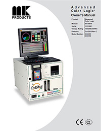 Advanced Color Logic Orbital Power Supply/Controller manual cover